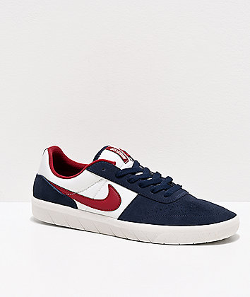 Nike SB Team Classic Navy, Obsidian Red & White Skate Shoes