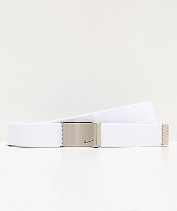 Nike Silver & White Reversible Web Belt
