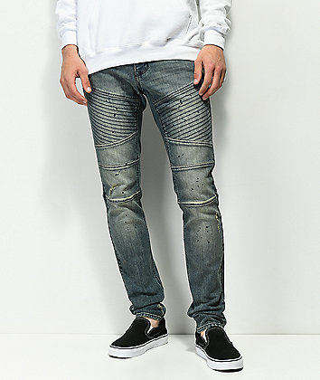 Ninth Hall Decoy Moto Clutch jeans azules