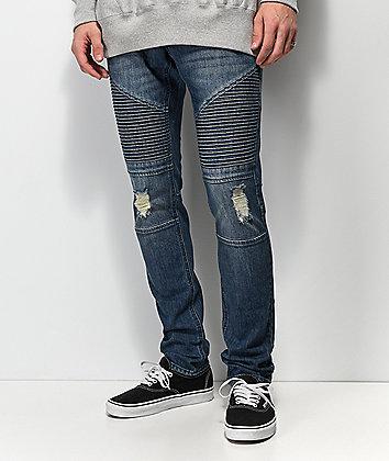 Ninth Hall Decoy Moto Throttle jeans azules