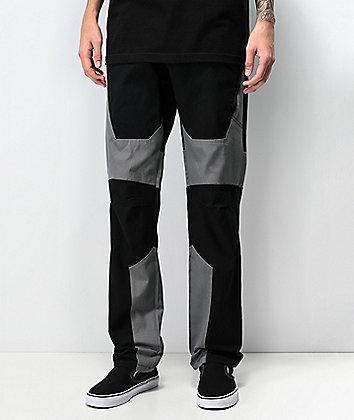 Ninth Hall Gasline Moto pantalones negros estilo cargo