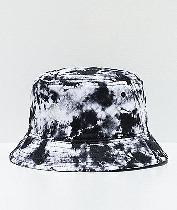 Ninth Hall Get A Trip Black & White Tie Dye Bucket Hat
