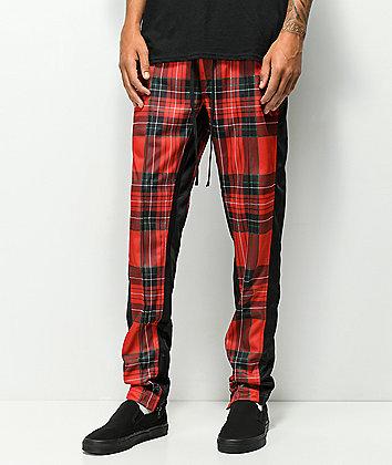 Ninth Hall Nordberg pantalones de chándal de tartán rojo