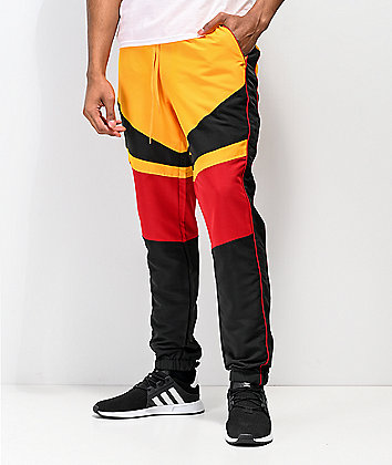 Ninth Hall Octane Yellow, Red, & Black Track Pants