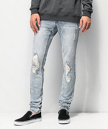 Ninth Hall Rogue Alda jeans de lavado azul claro