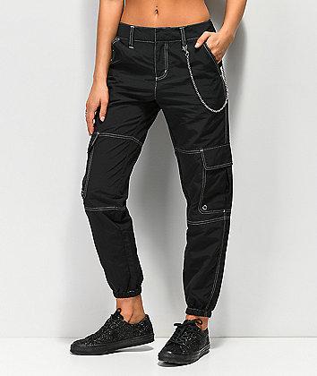 Ninth Hall Talia Black Parachute Pants