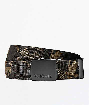 Nixon Basis Black Multicam Web Belt