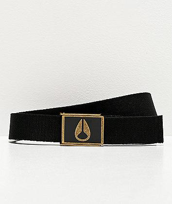 Nixon Enamel Wings Black & Bronze Web Belt