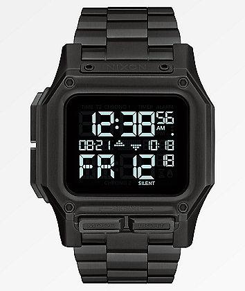Nixon Regulus SS All Black Digital Watch