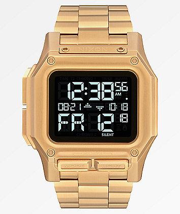 Nixon Regulus SS All Gold Digital Watch