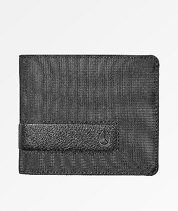 Nixon Showoff Black Nylon Bifold Wallet
