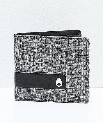 Nixon Showoff Black Wash Bifold Wallet