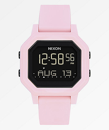 Nixon Siren Pale Pink Digital Watch