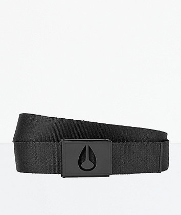 Nixon Spy Black Web Belt