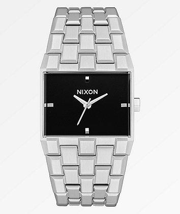 Nixon The Ticket Silver & Black Analog Watch