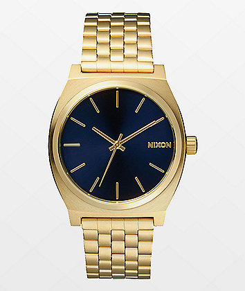 Nixon Time Teller Light Gold & Cobalt Analog Watch