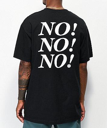 No Dice No Black T-Shirt