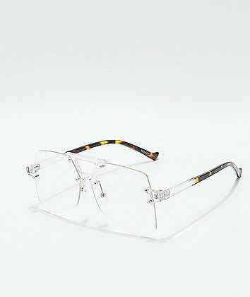 Nolan Clear Plastic Glasses