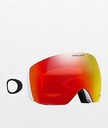 Oakley Flight Deck Matte White & PRIZM Torch Iridium gafas de snowboard