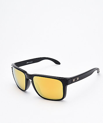 Oakley Holbrook XL Black & 24K Polarized Sunglasses