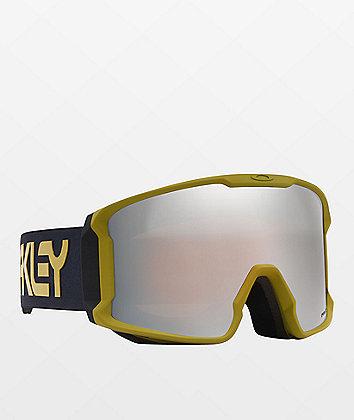 Oakley Line Miner Factory Pilot gafas de snowboard negras y amarillas