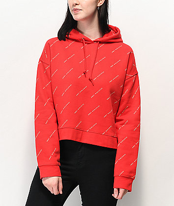 Obey All Over Print Red Hoodie