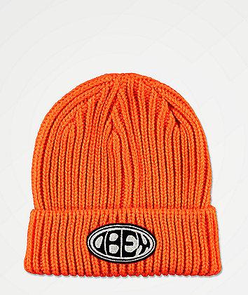 Obey Bumper Flame Orange Beanie