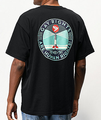 Obey Fire Island Black T-Shirt