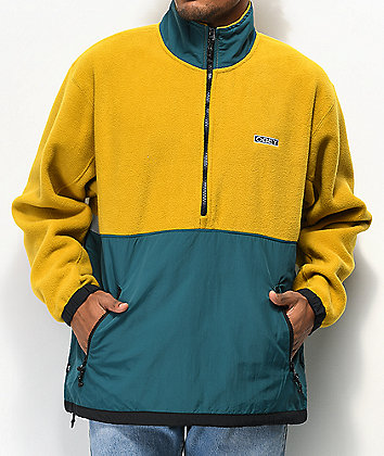 Obey Gallagher Gold & Green Anorak Jacket