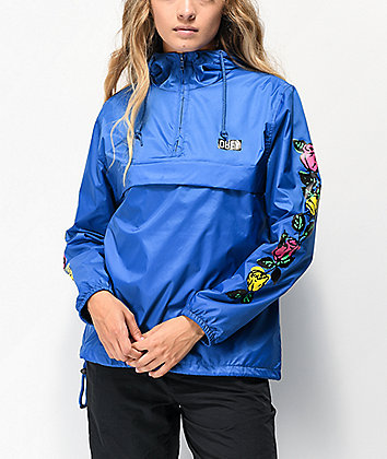 Obey Rose Bright Blue Anorak Jacket