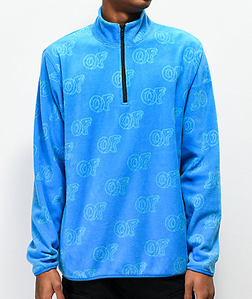 Odd Future Allover OF Print Light Blue Fleece Jacket
