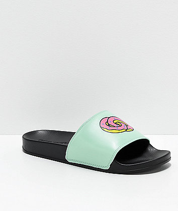 Odd Future Black & Teal Slide Sandals