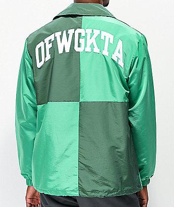 Odd Future Green Colorblock Coaches Jacket
