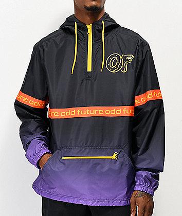Odd Future Ombre Black & Purple Anorak Jacket