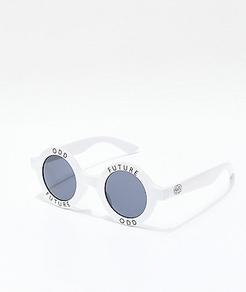 Odd Future White Round Sunglasses