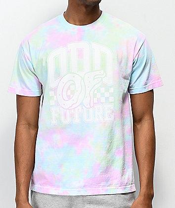 Odd Future Winners Circle Green, Pink, Blue & White Tie Dye T-Shirt