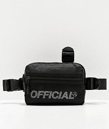 Official Melrose Black Tri-Strap Chest Bag