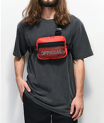 Official Melrose Red Tri-Strap Chest Bag