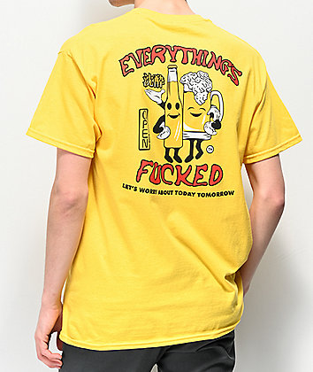 Open925 Worry Tomorrow Yellow T-Shirt