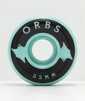 Orbs Wheels Specters 52mm 99a Teal Swirl Skateboard Wheels