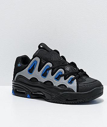 Osiris D3 2001 Black, Blue & Grey Skate Shoes