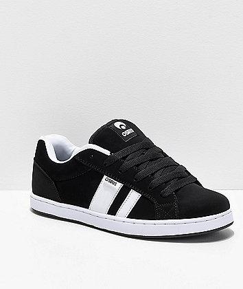 Osiris Loot Black & White Skate Shoes