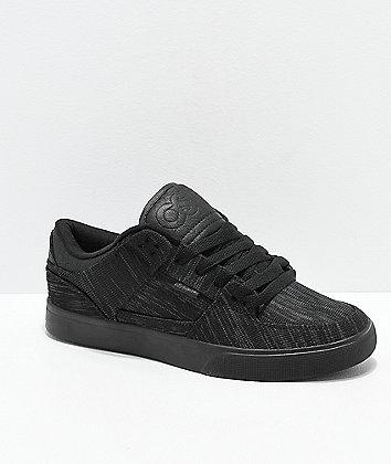 Osiris Protocol Black Knit Skate Shoes