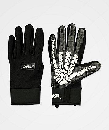 POW All Day Schoph Black Snowboard Gloves