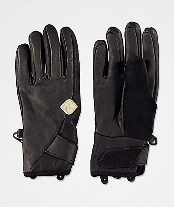 POW Chase Black Snowboard Gloves