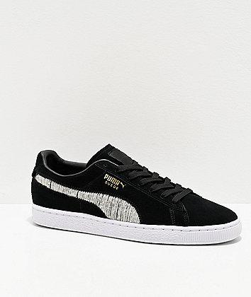 PUMA Suede Classic Ripped Denim Black Shoes