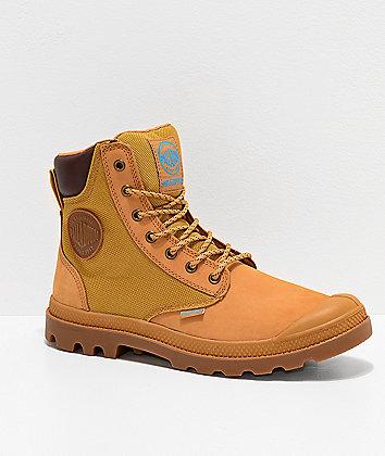 Palladium Pampa Sport Cuff Amber, Gold & Gum Boots