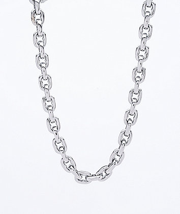 Personal Fears Big Dog Choker Silver Chain
