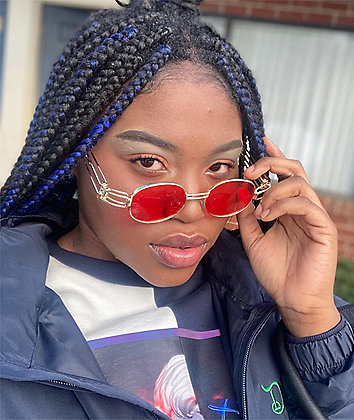 Petals and Peacocks Domina Red & Gold Sunglasses