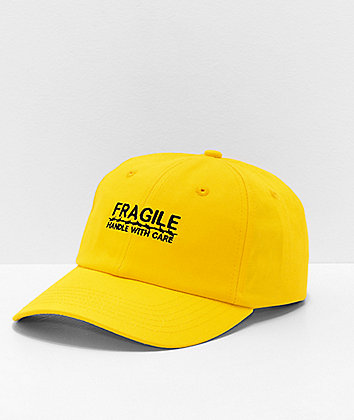 Petals and Peacocks Fragile Yellow Strapback Hat